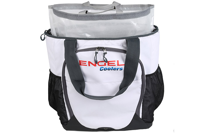engel soft-side backpack cooler in white