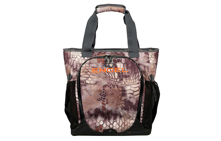 engel soft-side backpack cooler in kryptek highlander pattern