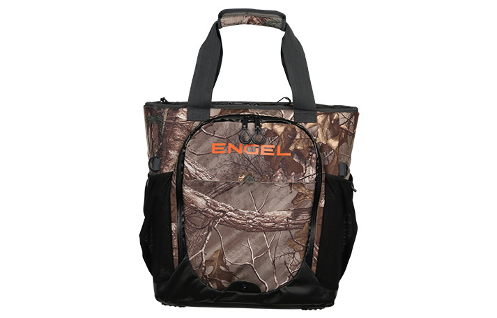 engel soft-side backpack cooler in realtree pattern