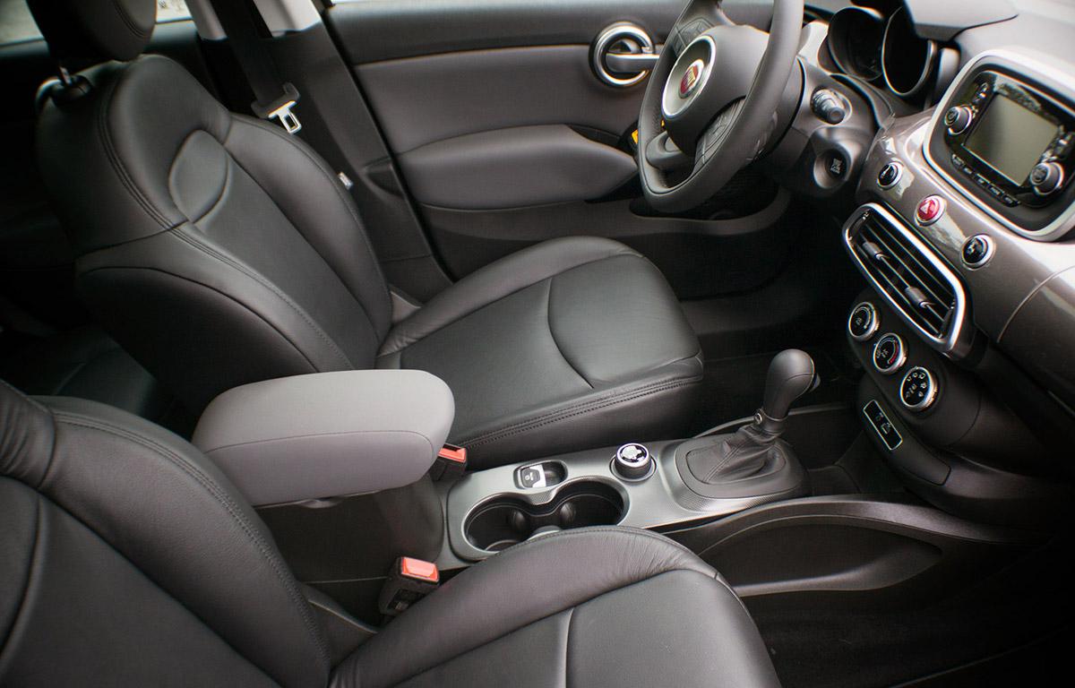 2017 Fiat 500 with black Enkei Wheels interior