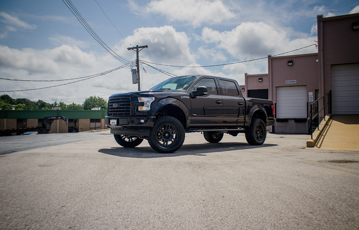 Blackout Package on a 2017 Ford F150 with 5
