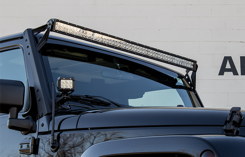 2008 jeep wrangler unlimited with putco luminix light bar
