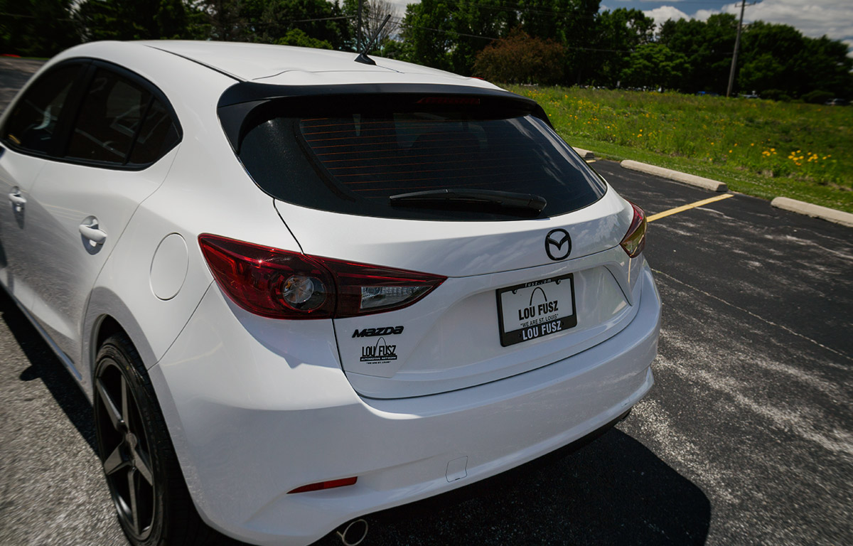 2017 Mazda3 Hatchback with Black Accents rear end