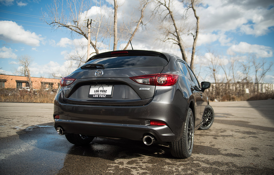 2018 Mazda 3 Hatchback Enkei Sport Package with magnaflow exhaust