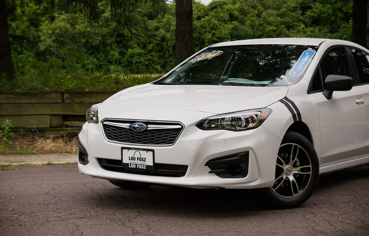 2017 Subaru Impreza With Black Accents close up